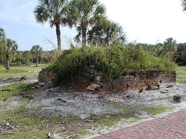 Remains of fort Dade bake ovens
