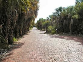 Brick road on Egmont Key.