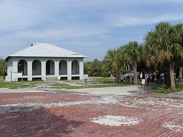 The fort Dade guardhouse on Egmont key