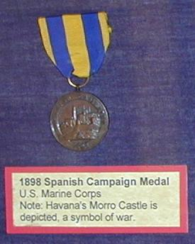 1898 Spanish campaign medal.