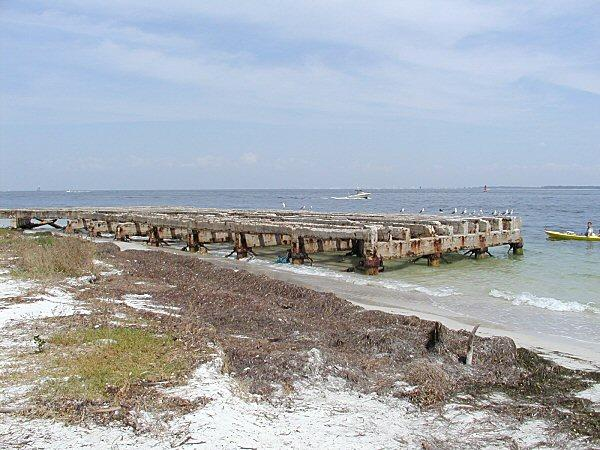 Mine loading dock on Egmont key
