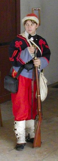 Zouave uniform.