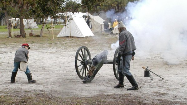 Cannon fires!