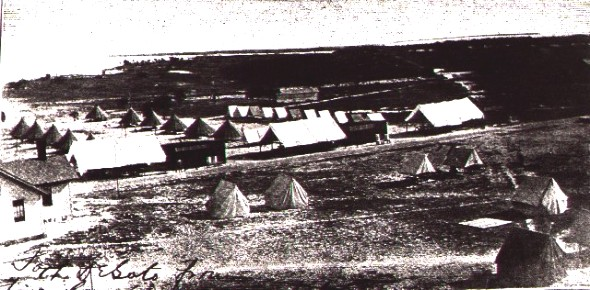 Tents of Florida State Troops on drill in 1908