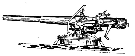 Drawing of 3-inch gun
